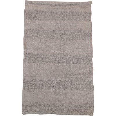 Verne 100% Cotton Wide Cut Reversible Bath Rug Size: 34 H X 21 W, Color: Silver