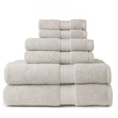 100% Cotton 2 Ply 6 Piece Towel Set Color: Flax