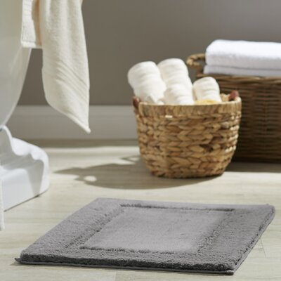 Clarke Bath Rug Size: 21 W x 34 L, Color: Pewter