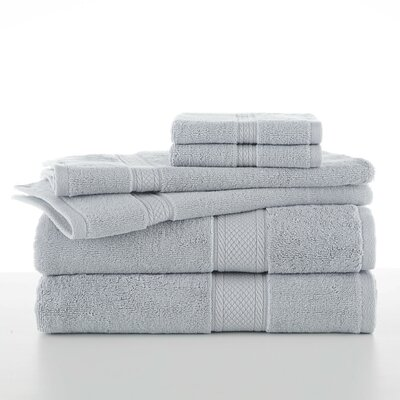 6 Piece Towel Set Color: Blue Cloud