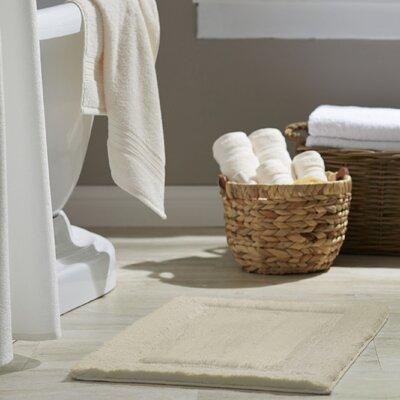 Clarke Bath Rug Size: 17 W x 24 L, Color: Vanilla