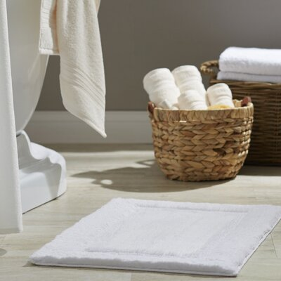 Clarke Bath Rug Size: 27 W x 45 L, Color: White