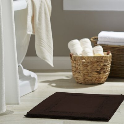 Clarke Bath Rug Size: 17 W x 24 L, Color: Java
