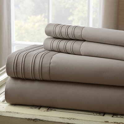Holmes 1000 Thread Count 4 Piece Sheet Set Size: King, Color: Gray