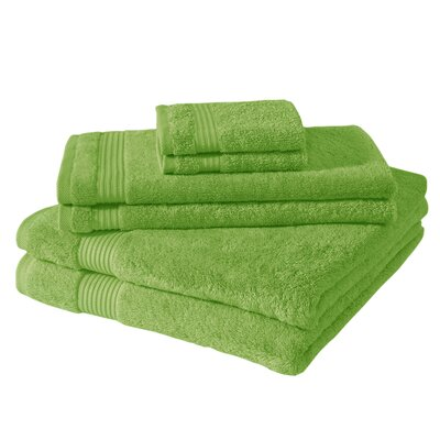 Amadeus 6 Piece Towel Set Color: Greenery