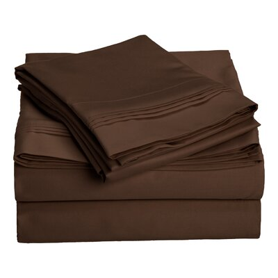 Patric 1500 Thread Count 100% Egyptian-Quality Cotton Sheet Set Size: Full, Color: Mocha