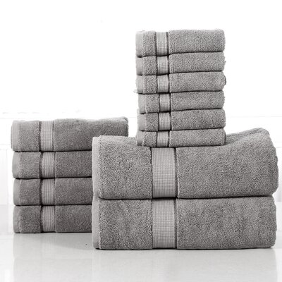 12 Piece Towel Set Color: Platinum