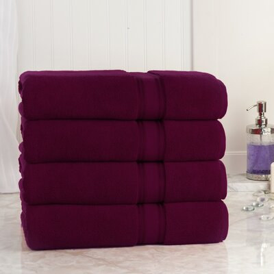 Super Absorb Bath Sheet Color: Burgundy