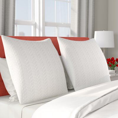 Tucker Quilted Cotton Euro Sham Color: White