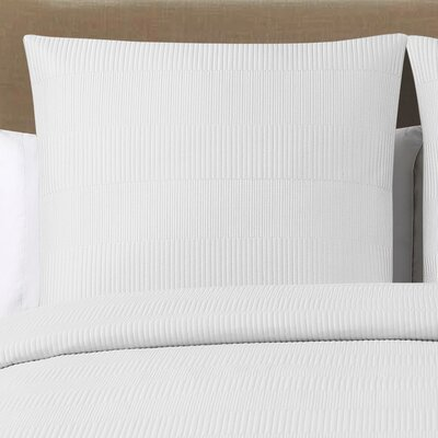 Jaylen Quilted Cotton Euro Sham Color: White