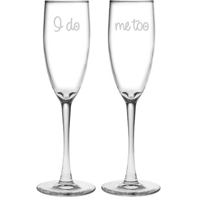 Oscar I Do / Me Too 5.75 oz. Champagne Flute MNTP1265 37952651