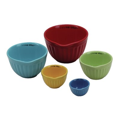Corydalis 5 Piece Stoneware Nesting Measuring Cup Set MNTP1321 37953588