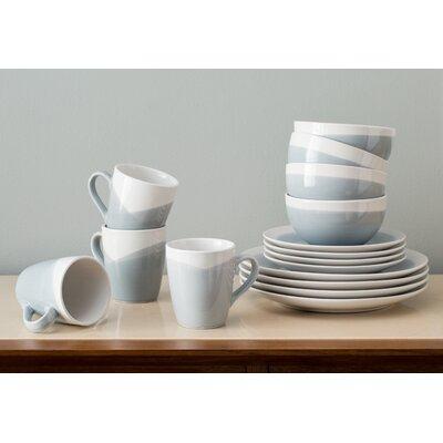 Valia 16 Piece Dinnerware Set, Service for 4 Color: Blue/Gray MNTP1101 33765580