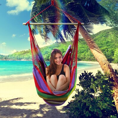 Brazilian Cotton and Polyester Chair Hammock Color: Multi-Color