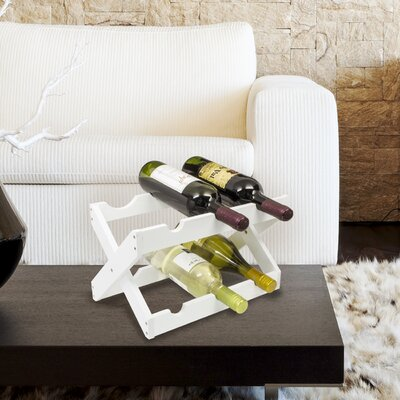 6 Bottle Tabletop Wine Rack Finish: White