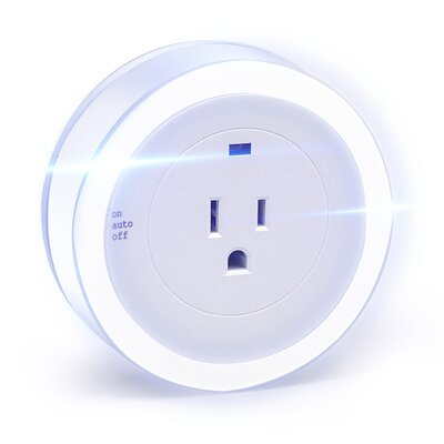 LED Concepts Round Dusk Dawn Sensor Night Light