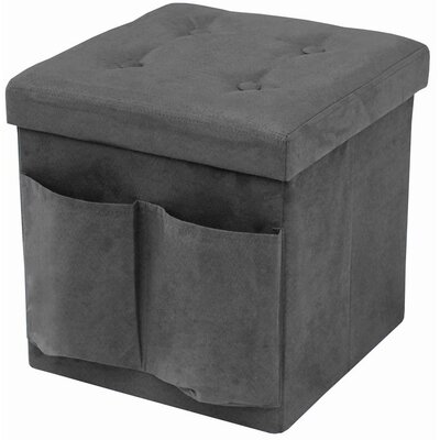 Storage Ottoman Upholstery: Gray