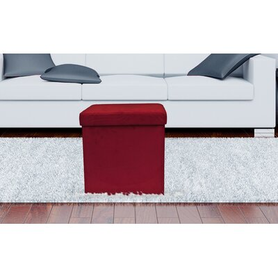 Storage Ottoman Upholstery: Red