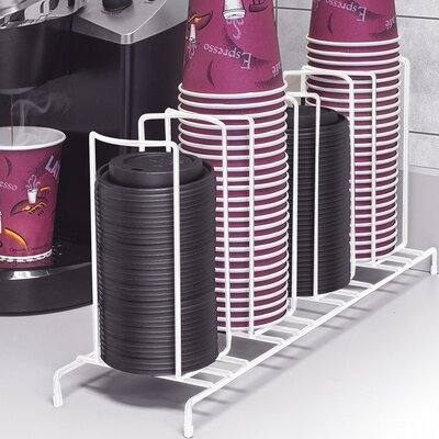 4 Section Cup and Lid Shelving Rack CUP-HLDR4-WH