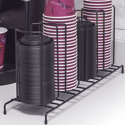 4 Section Cup and Lid Shelving Rack CUP-HLDR4-BLK