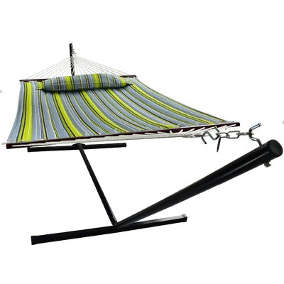 Ashlee Hammock with Stand Color: Green/Blue
