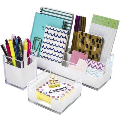 3 Piece Acrylic Desk Set REBR3220 40676204