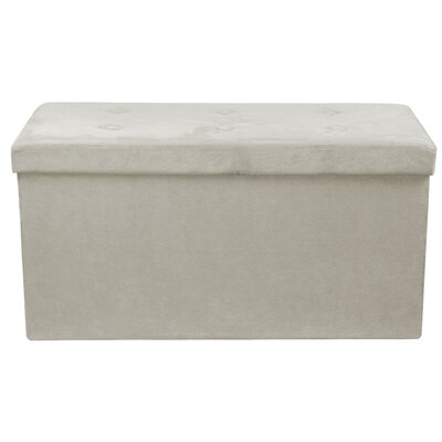 Rectangle Storage Ottoman Upholstery: Beige