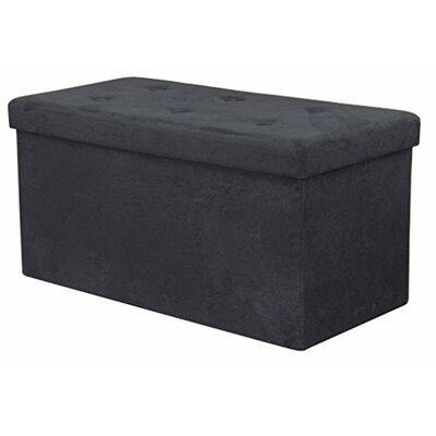 Storage Ottoman Upholstery: Black