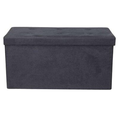 Rectangle Storage Ottoman Upholstery: Black