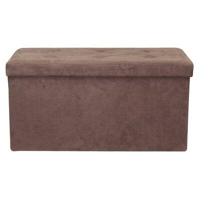 Rectangle Storage Ottoman Upholstery: Chocolate
