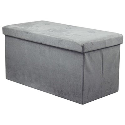 Rectangle Storage Ottoman Upholstery: Gray