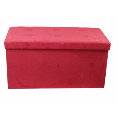 Rectangle Storage Ottoman Upholstery: Red
