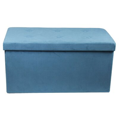 Rectangle Storage Ottoman Upholstery: Teal