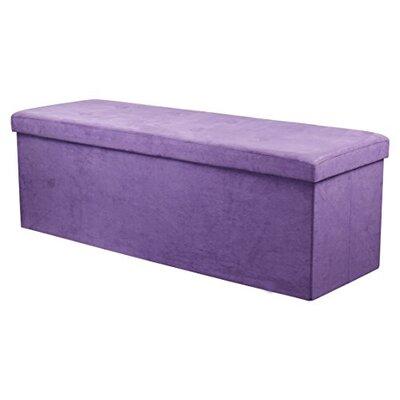 Storage Ottoman Upholstery: Purple