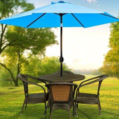 10 Charlena Market Umbrella Fabric: Aqua