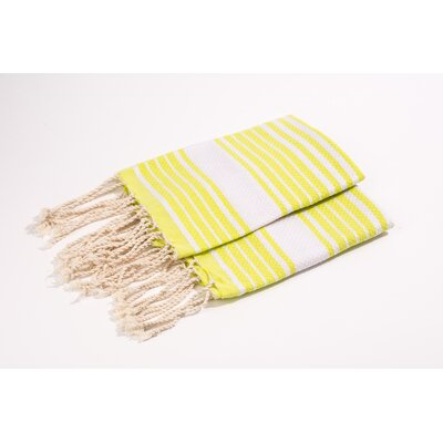 Hand Towel Color: Anis/White