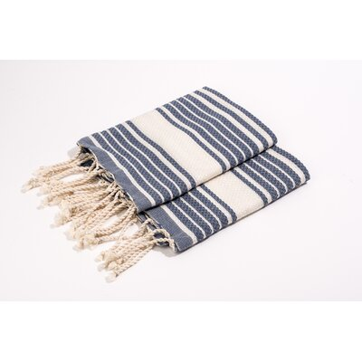 Hand Towel Color: Blue/White