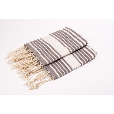 Hand Towel Color: Beige/White