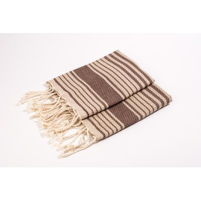 Hand Towel Color: Beige/Brown