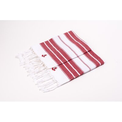 Hand Towel Color: Red/White