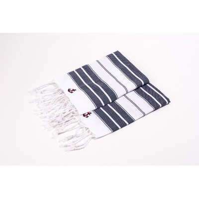Hand Towel Color: Navy/White