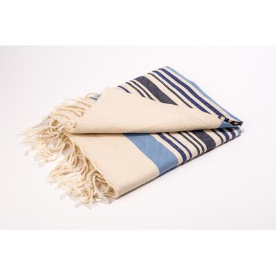 Fouta Canvas Group of Stripes Bath Towel Color: Blue