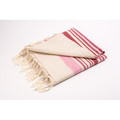 Fouta Canvas Group of Stripes Bath Towel Color: Pink