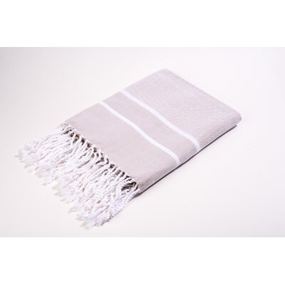 Fouta Herringbone Stripes Bath Towel Color: Beige