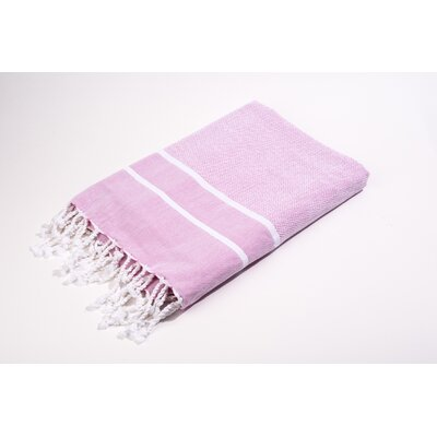 Fouta Herringbone Stripes Bath Towel Color: Pinks