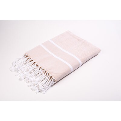 Fouta Herringbone Stripes Bath Towel Color: Peach
