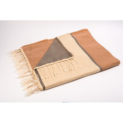 Fouta Large Bath Towel Color: Beige