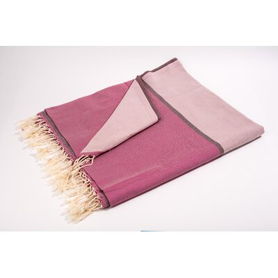 Fouta Large Bath Towel Color: Pink