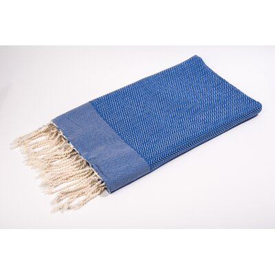 Fouta Herringbone Extra Soft Bath Towel Color: Blue
