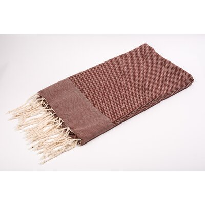 Fouta Herringbone Extra Soft Bath Towel Color: Brown